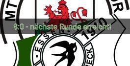 8:0 – dritte Runde im Niederrheinpokal erreicht