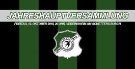 Save the date – JHV am 12. Oktober im Vereinsheim