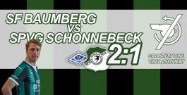1:2 in Baumberg – Personell arg gebeutelte Schonnebecker schlagen sich tapfer